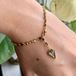 Melanie Auld Abalone Lariat Bracelet